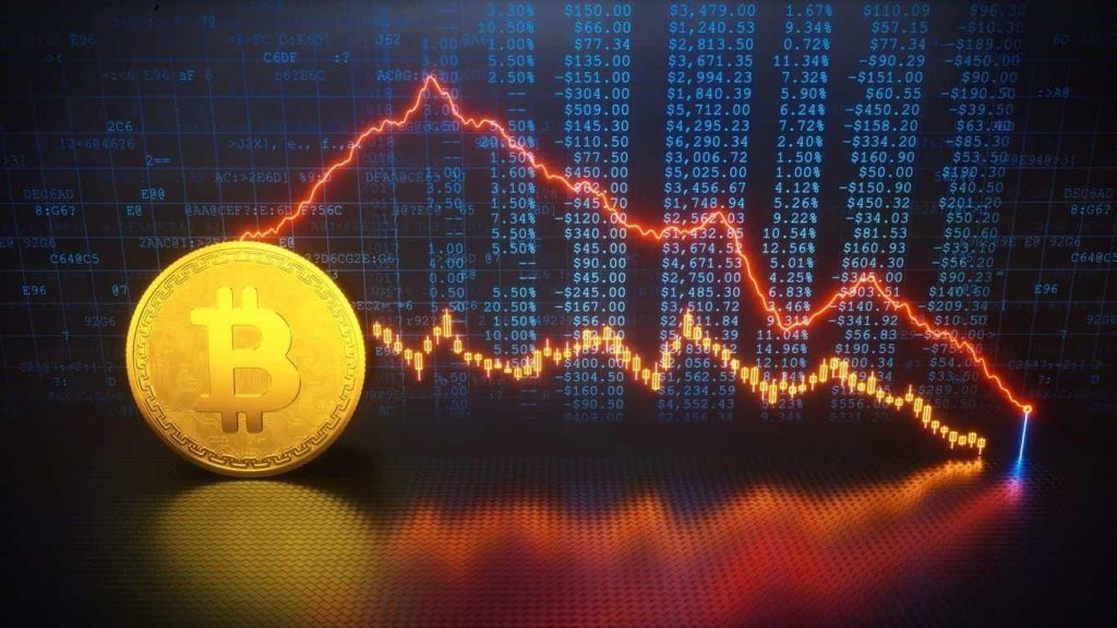 Bitcoin value goes down