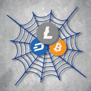 spider web of scams